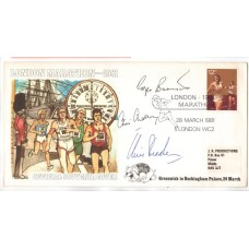 London Marathon signed first day cover