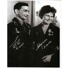 Russian Cosmonauts - Valentina Tereshkova and Valery Bykovsky